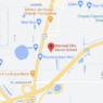 Map of part of Orlando depicting a red map point at Marshall Ellis Dance School